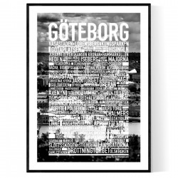 Göteborg Photo Text Poster
