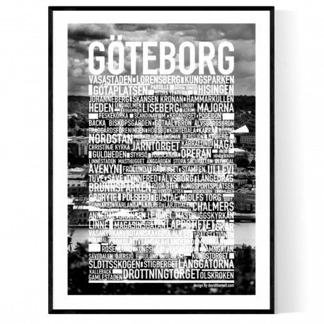Göteborg Photo Text Poster