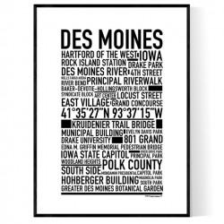 Des Moines Poster