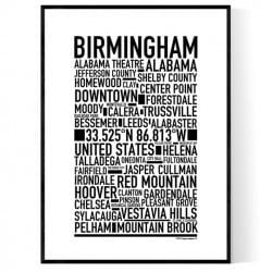 Birmingham AL Poster