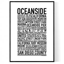 Oceanside CA Poster