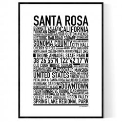 Santa Rosa Poster