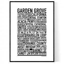Garden Grove CA Poster
