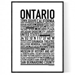 Ontario CA Poster