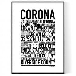 Corona CA Poster