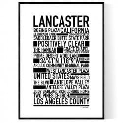 Lancaster CA Poster