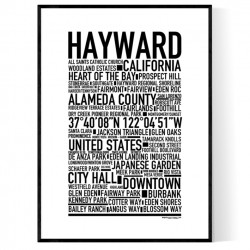 Hayward CA Poster