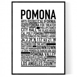 Pomona CA Poster