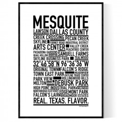 Mesquite TX Poster