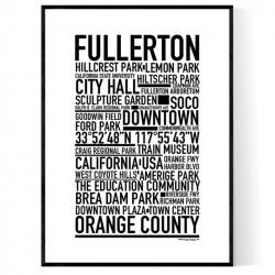 Fullerton CA Poster