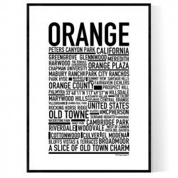 Orange CA Poster