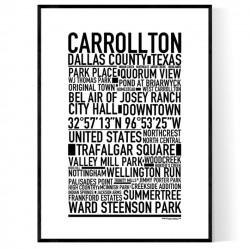 Carrollton Poster