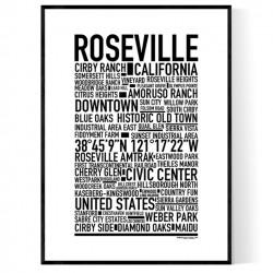 Roseville CA Poster