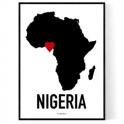 Nigeria Heart Poster