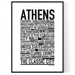 Athens GA Poster
