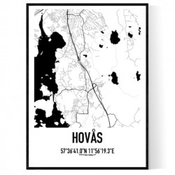 Hovås Karta Poster