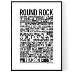 Round Rock TX Poster