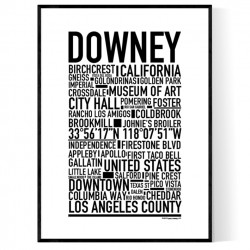 Downey Poster