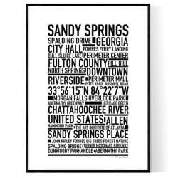 Sandy Springs Poster