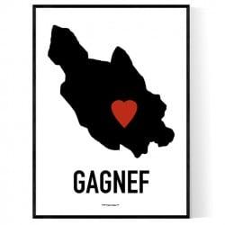 Gagnef Heart Poster
