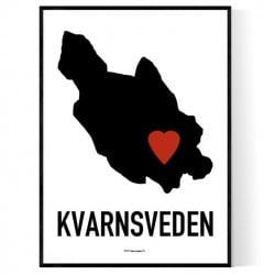 Kvarnsveden Heart Poster