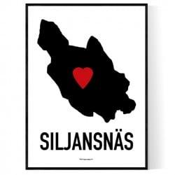Siljansnäs Heart Poster