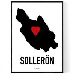 Sollerön Heart Poster