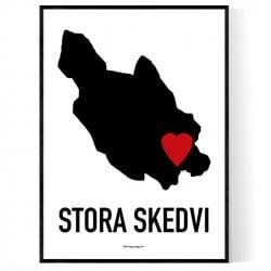 Stora Skedvi Heart Poster