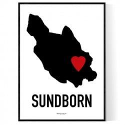 Sundborn Heart Poster