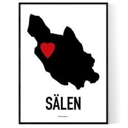 Sälen Heart Poster