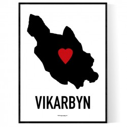 Vikarbyn Heart Poster
