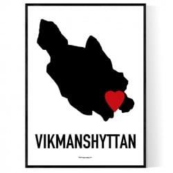 Vikmanshyttan Heart Poster