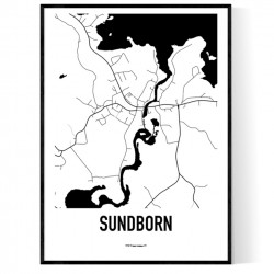 Sundborn Karta Poster