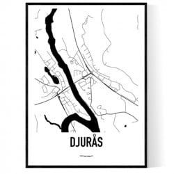 Djurås Karta Poster
