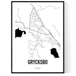 Grycksbo Karta Poster