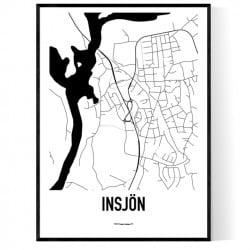 Insjön Karta Poster