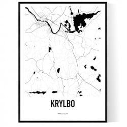 Krylbo Karta Poster