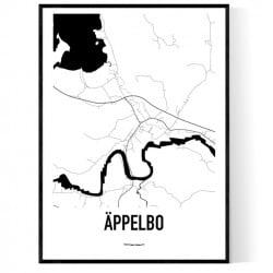 Äppelbo Karta Poster