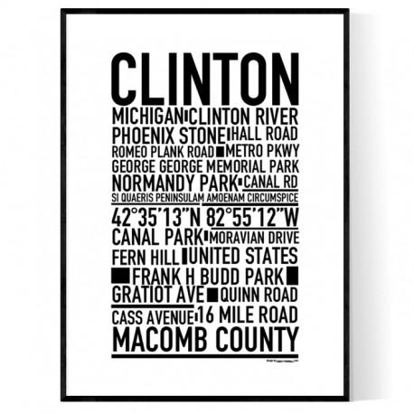 Clinton MI Poster