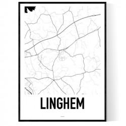Linghem Karta Poster