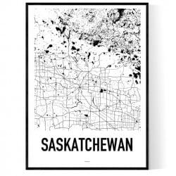 Saskatchewan Karta Poster