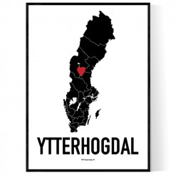 Ytterhogdal Heart Poster