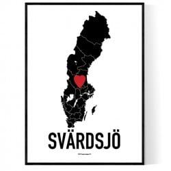 Svärdsjö Heart Poster
