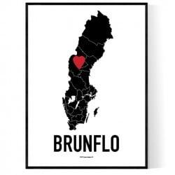 Brunflo Heart Poster