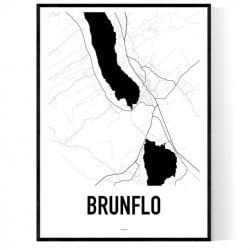 Brunflo Karta Poster