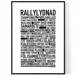 Rallylydnad Poster