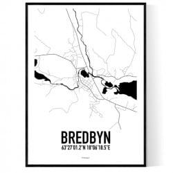 Bredbyn Karta Poster