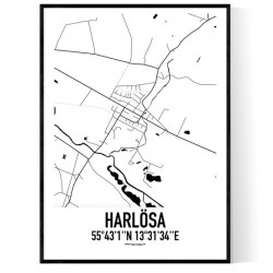 Harlösa Karta