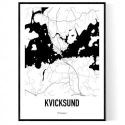 Kvicksund Karta Poster