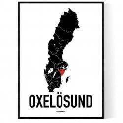Oxelösund Heart Poster